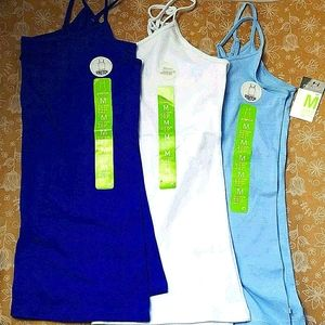 New Women's Cami 95% Cotton in Cobalt, White Blue
